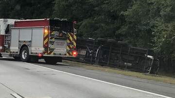 Coastal Empire News - Overturned semi causing delays on I-16 East near Dean Forest Rd. exit