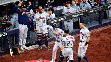 Sports Desk - Astros' Game 4 rained out