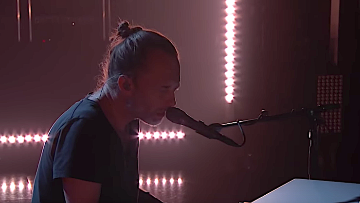 Thom Yorke Mesmerizes 'Kimmel' Audience With Three-Song Set: Watch | iHeartRadio