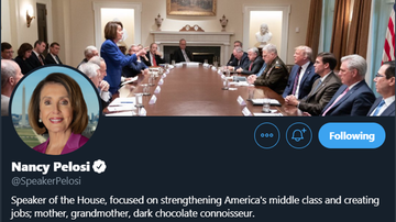 Politics - Pelosi Uses Photo Trump Tweeted as Cover Image For Her Twitter Account