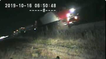 Steve Powers - Utah Trooper saves man 1 second before the train takes out his vehicle