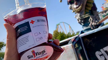 Mountain Man Jay - Six Flags Selling A Sangria Drink That's Served In An IV Bag For Halloween