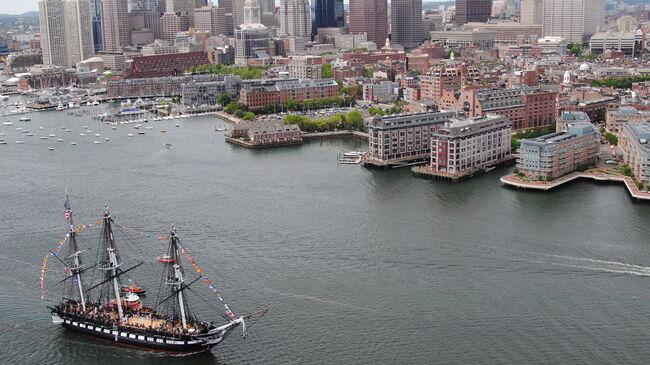 USS Constitution Sails Into Boston Harbor