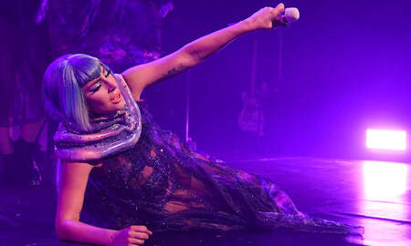 Entertainment News - Lady Gaga Suffers Hard Fall Off Stage After Being Dropped By Fan