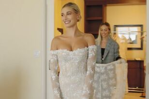 'Vogue' Shares Inside Look At Hailey Baldwin's Final Wedding Dress Fitting