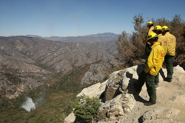Extreme Fire Danger in Angeles National Forest, San Gabriel Mountains