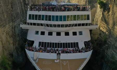 Mathew & Priscilla In The Morning - Cruise Ship Makes History With Impossible Squeeze Through Narrow Canal