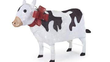 Mountain Man Jay - Home Depot Is Selling A Giant, Light Up Cow Lawn Ornament For Christmas