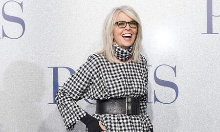 None - Actress Diane Keaton Makes Surprise Stop at a Chick-Fil-A in Greensboro