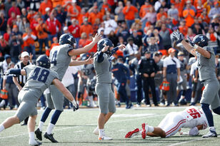 Illinois shocks Wisconsin 24-23