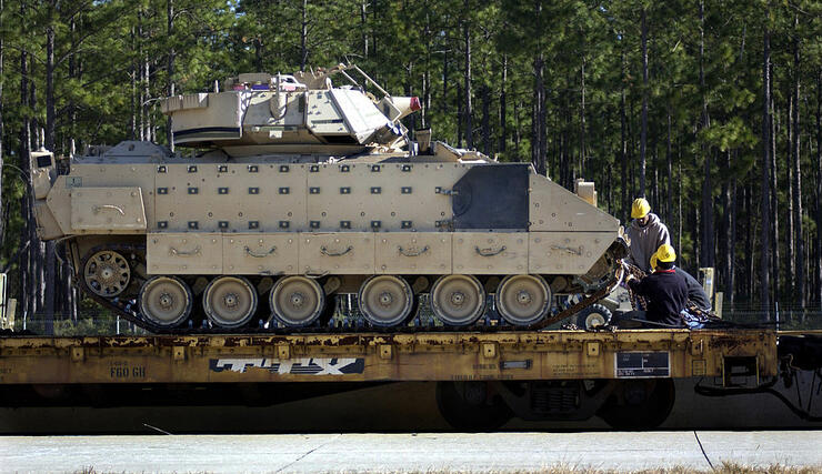 U.S. Army Deploys Armor Vehicles