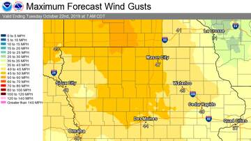 WHO Radio News - Wind Warning for Des Moines, Central & NW Iowa, to near Omaha MAPS