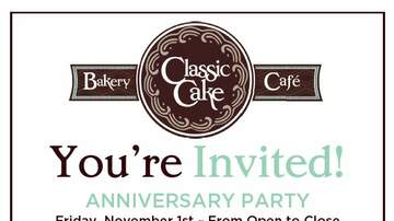None - You're Invited! 106.1 The Breeze Live Broadcast at Classic Cake on 11/1 !