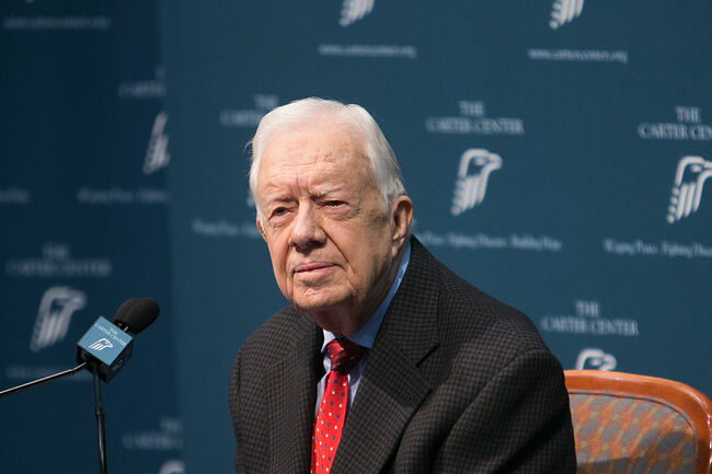 Former President Jimmy Carter Holds News Conference On His Cancer Diagnosis