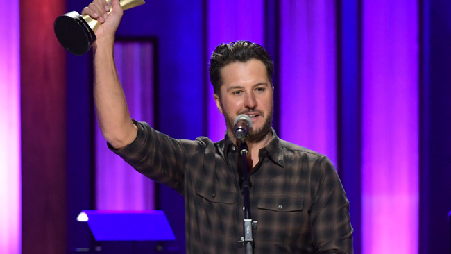 Luke Bryan Receives ACM Album Of The Decade Award For 'Crash My Party'