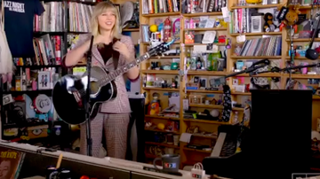 Carolina Calix - Taylor Swift makes her first appearance on NPR tiny desk