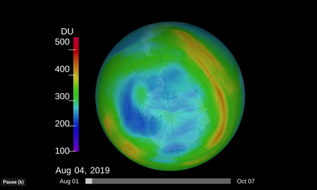 Uplifting - Ozone Hole Over South Pole Shrinks to Smallest Size Ever Recorded NASA Says