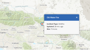#iHeartSoCal - Old Water Fire in San Bernardino Forces Evacuations, 75 Acres Burned So Far