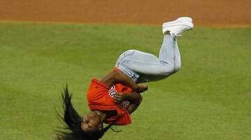 Brooke Morrison - Watch Simone Biles' Epic Flip Before Throwing Out First Pitch