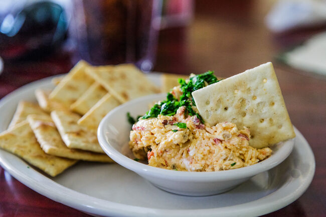 Homemade Pimento Cheese and Crackers