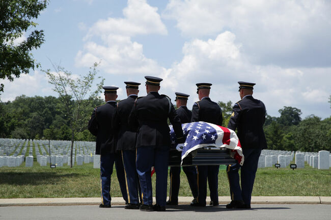 WWII Veteran Who Took Part In D-Day Is Buried At Arlington National Cemetery