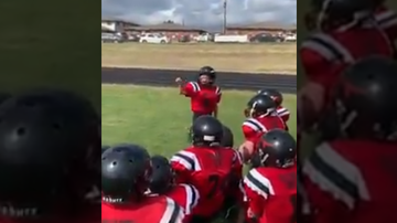 Jackie - Little League Football Player Gets The Team Fired Up (Video)