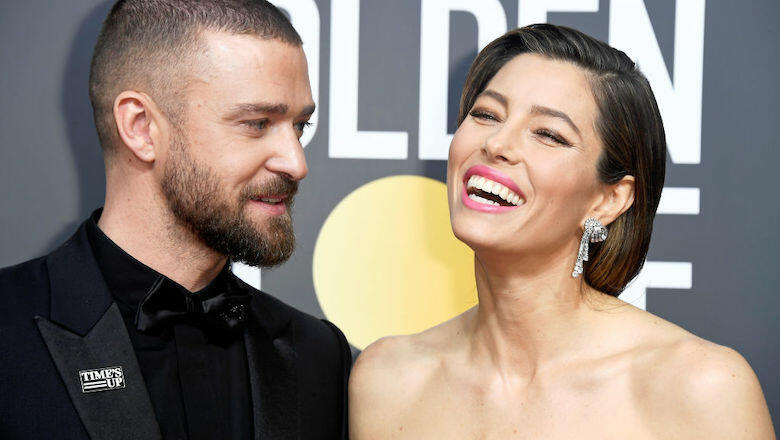 Jessica Biel dresses as husband Justin Timberlake for Halloween party