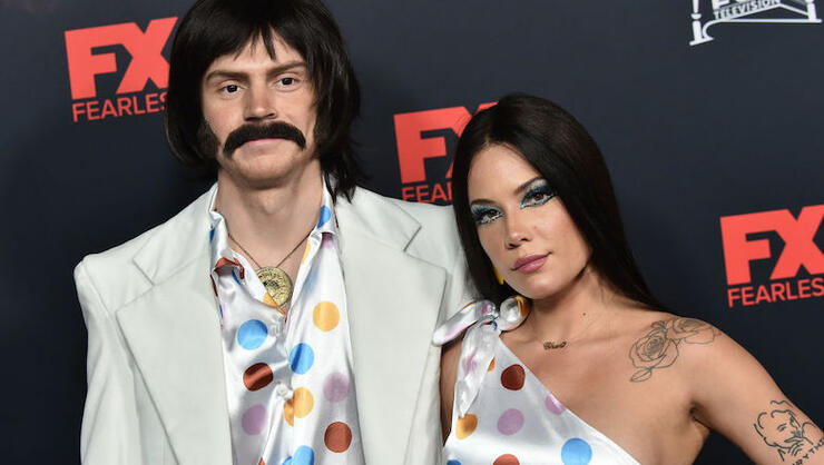 Halsey And Evan Peters Make Red Carpet Debut Dressed As Sonny And Cher | iHeartRadio