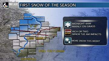 Debbie McFadden - First Snow of The Season Tonight, More Later This Week?