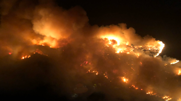 #iHeartSoCal - Fire Burning Near 405; Mandatory Evacuations Ordered