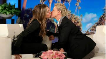 Entertainment News - Jennifer Aniston & Ellen DeGeneres Share TV Kiss: 'You Have Such Soft Lips'