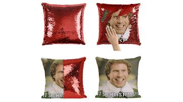 Beth and Friends - Buddy The Elf Sequin Pillows Are Here & I Need This For Christmas