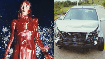 Trending - Woman In Bloody 'Carrie' Costume Crashes Her Car, Horrifies EMTs