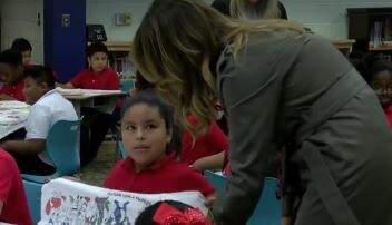 Kelly Golden - WATCH: First Lady Melania Trump, Second Lady Visit Lambs Elementary School