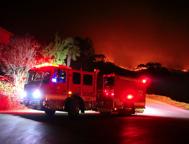 LA fire fighters assisting with Maria Fire