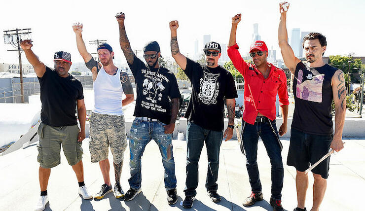 Prophets of Rage Play A Free Skid Row Show In Los Angeles