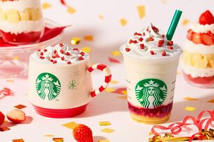 Starbucks Dropped A Festive Strawberry Cake Frappuccino For The Holidays