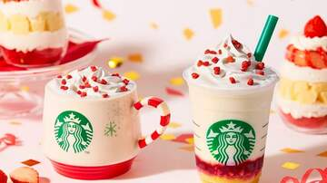 Holidays - Starbucks Dropped A Festive Strawberry Cake Frappuccino For The Holidays