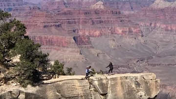 Trending - Heart-Stopping Video Shows Woman Almost Falling Off Grand Canyon