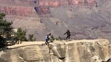 Brett 'Bside' Matthews - A Woman Almost Falls Into the Grand Canyon While Taking a Photo