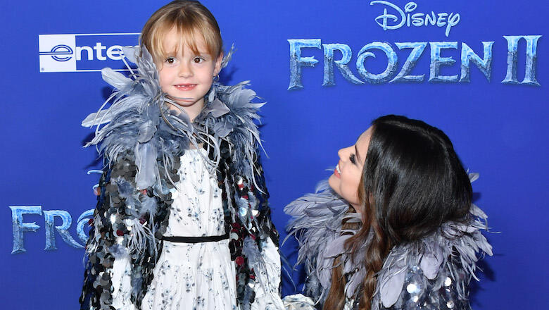 Selena Gomez takes her younger sister to the premiere of