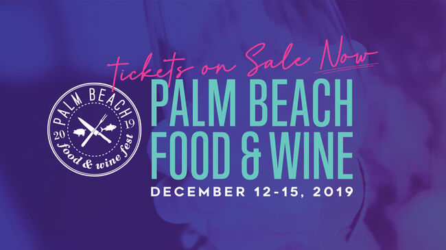 Palm Beach Food & Wine Festival Eblast