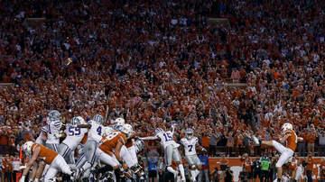 None - Texas Longhorns win on Cameron Dicker field goal