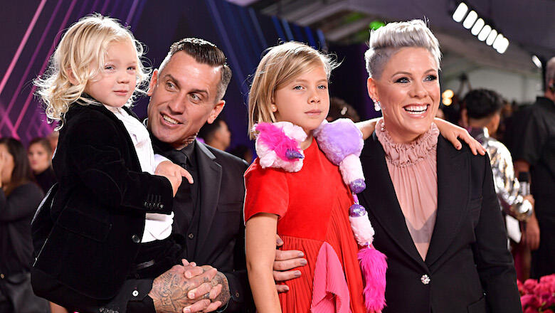 Pink Brings Family To People's Choice Awards As She Accepts Champion Award