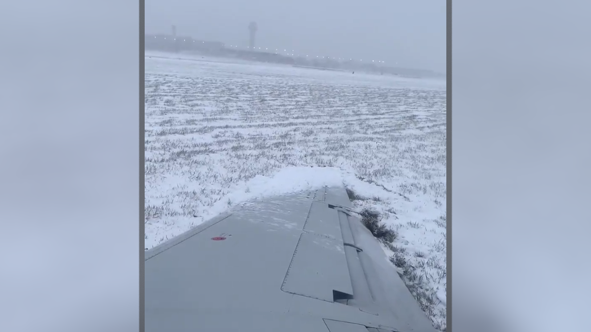 Plane Slides Off Runway At Chicago's O'Hare Airport Due to Icy Conditions