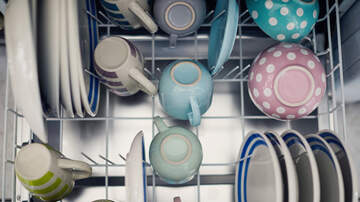 None - Should you load the dishwasher with silverware pointing up or down?