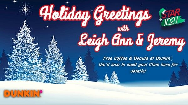 Holiday Greetings with Leigh Ann & Jeremy!