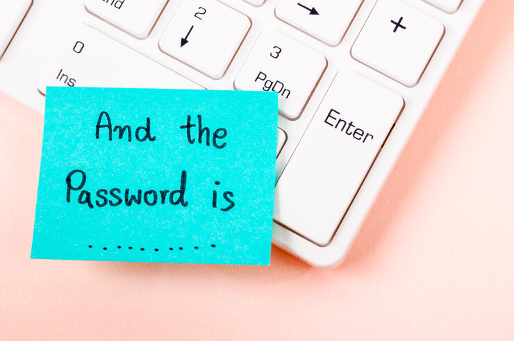 And the password is text on sticky note.