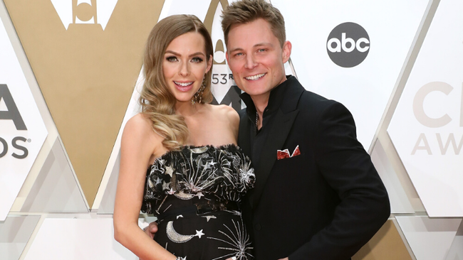 Frankie Ballard's Wife Christina Shows Off Growing Baby Bump At CMA Awards