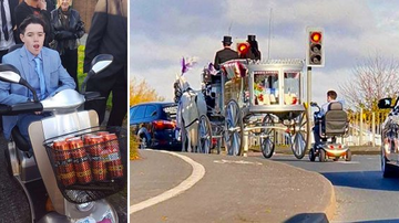 Klinger - Boy Rides Grandmother's Mobility Scooter Behind Her Funeral Procession